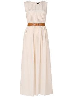 длинное платье с поясом Theory