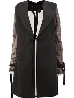 пальто с кружевной отделкой рукавов Ann Demeulemeester