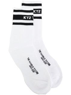 носки с контрастными полосками KTZ