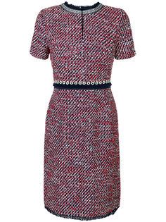 твидовое платье с короткими рукавами  Tory Burch