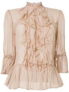 блузка с отделкой из рюшей Ulla Johnson