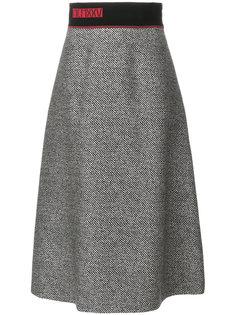 расклешенная юбка миди с вышивкой  Fendi