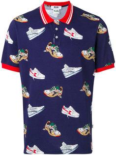 рубашка-поло с принтом кроссовок MSGM