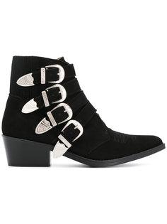 multi-strap cowboy boots Toga Pulla