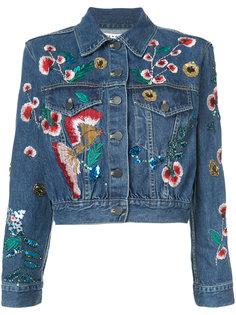 джинсовая куртка с вышивкой Alice+Olivia