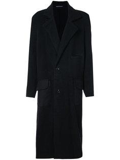 пальто с контрастными карманами Yohji Yamamoto