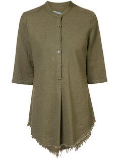 блузка с необработанным подолом Raquel Allegra