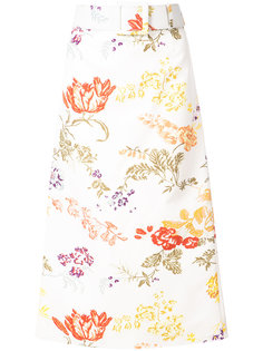 floral belted A-line skirt Rosie Assoulin