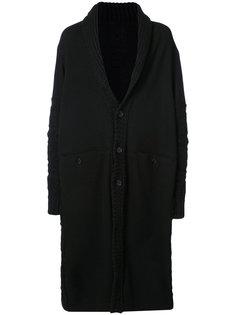 однобортное пальто Yohji Yamamoto