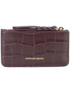 кошелек для монет с эффектом крокодиловой кожи Alexander McQueen