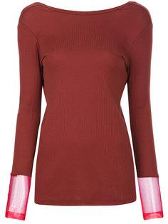 свитер с V-образным вырезом сзади  Toga Pulla