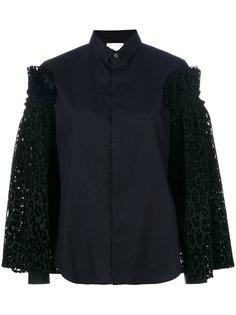 рубашка с леопардовым принтом Comme Des Garçons Noir Kei Ninomiya