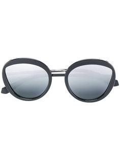 круглые очки с эмалевой отделкой Bulgari