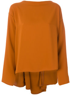 асимметричная блузка  Mm6 Maison Margiela