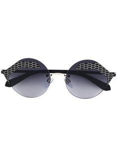 фактурные солнцезащитные очки  Bulgari