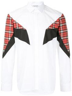 рубашка с геометрическими вставками Neil Barrett