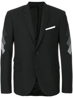 пиджак с контрастными рукавами Neil Barrett