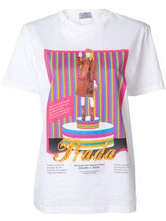 футболка с круглым вырезом  Prada