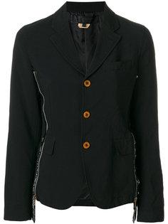 пиджак с молниями по бокам Comme Des Garçons Comme Des Garçons