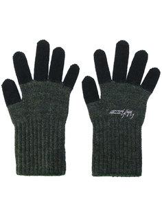перчатки с контрастными панелями Yohji Yamamoto