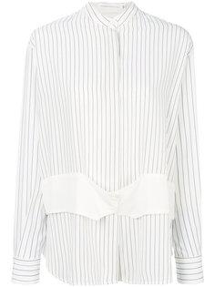 полосатая рубашка с воротником-стойкой Victoria Beckham