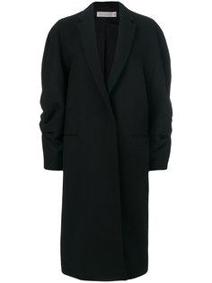 свободное пальто со сборками на рукавах Victoria Beckham