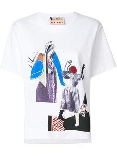 футболка с графическим принтом Marni