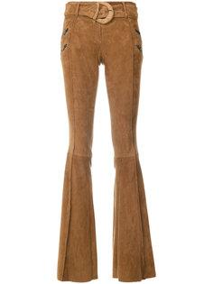 расклешенные брюки с молниями  Drome