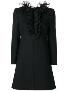 платье с оборками Saint Laurent