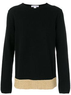 свитер с контрастным подолом Comme Des Garçons Shirt