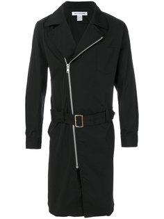 приталенное пальто на молнии Comme Des Garçons Shirt