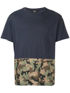 футболка с камуфляжной панелью Nº21
