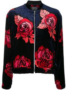 куртка-бомбер с розами Markus Lupfer