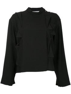 блузка с декором из оборок Toga Pulla