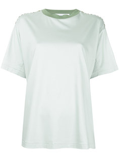 футболка с украшением из камней на плечах Toga Pulla