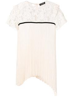 асимметричная плиссированная блузка Twin-Set