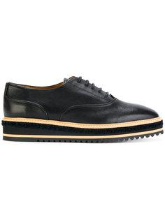 классические туфли на платформе Castañer