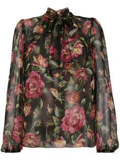 шифоновая блузка с цветочным принтом Dolce & Gabbana