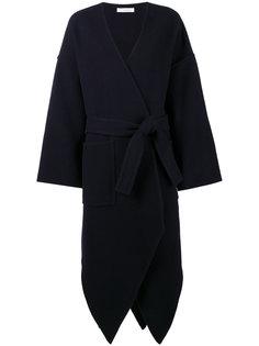 асимметричное пальто с поясом  JW Anderson