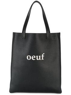 кожаная сумка-шоппер Oeuf Loewe