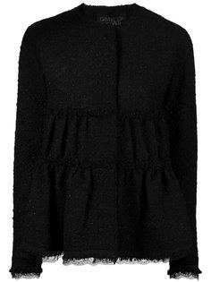 твидовый пиджак с оборками  Giambattista Valli