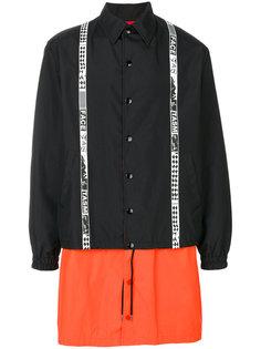 пальто с панельным дизайном Facetasm