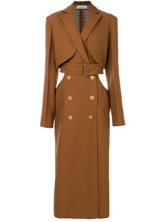 пальто с лацканами и застежкой на пуговицы Nina Ricci
