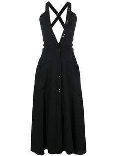 платье с глубоким V-образным вырезом Nina Ricci