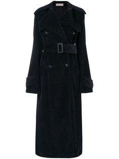 длинное пальто с воротником Nina Ricci