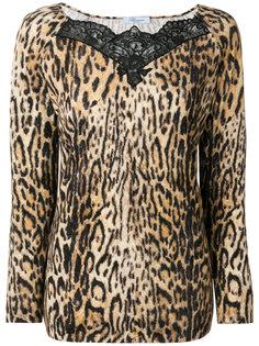 блузка с кружевной вставкой Blumarine