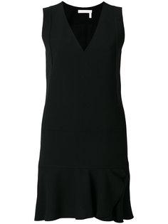 платье шифт с оборкой  See By Chloé