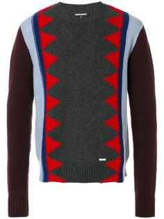 свитер контрастной вязки Dsquared2