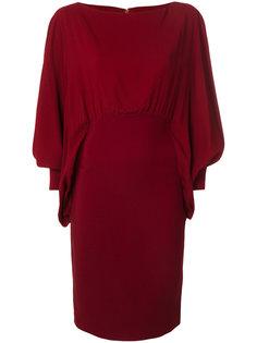платье с драпированными рукавами Antonio Berardi