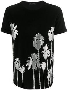 футболка с цветочной вышивкой Christian Pellizzari